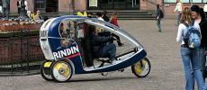 Туристическая рикша-такси.