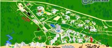 Туристическая карта Албены