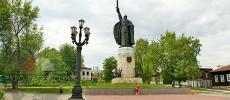 Памятник Илье Муромцу - Окский парк в Муроме