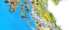 Карта Хорватии фото