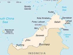 Остров Лабуан расположен недалеко от Кота Кинабалу