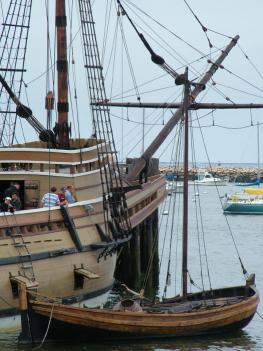 Бостон - карабль Mayflower II