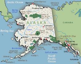 Аляска - Alaska - самый большой по территории штат США