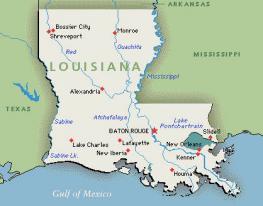Луизиана - Louisiana - штат на юге США