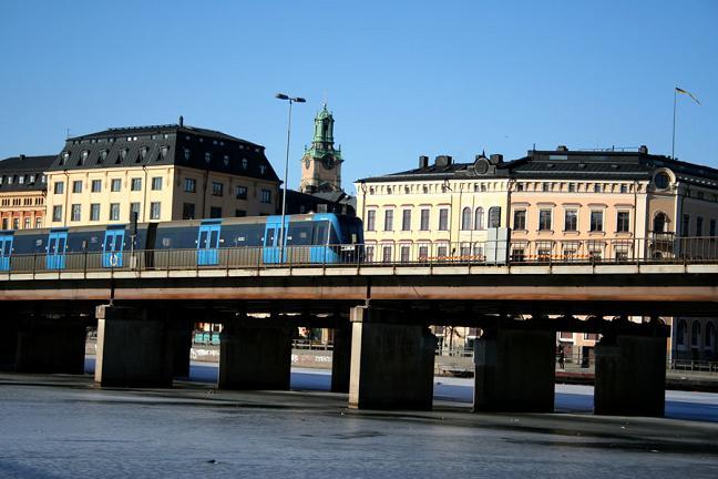 Стокгольм. Вид с моря. Достопримечательности.