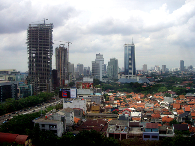 Столица Индонезии - город Джакарта, фото