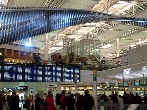 Аэропорт города Мюнхен в Германии