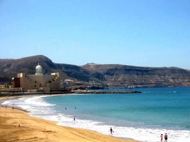Пляж на Гран Канарии фото
