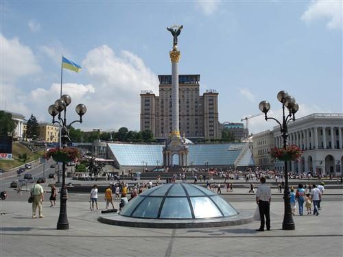 Крещатик - центральная улица Киева - фото