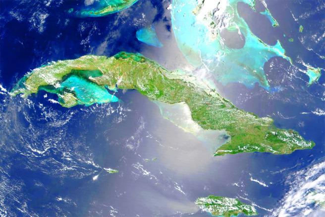 Фото Кубы с космоса