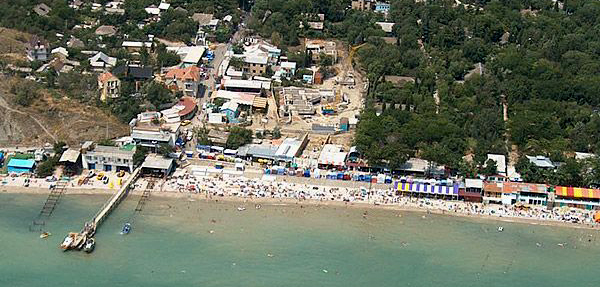 Коктебель, вид побережья
