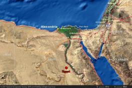 Египет туристическая карта