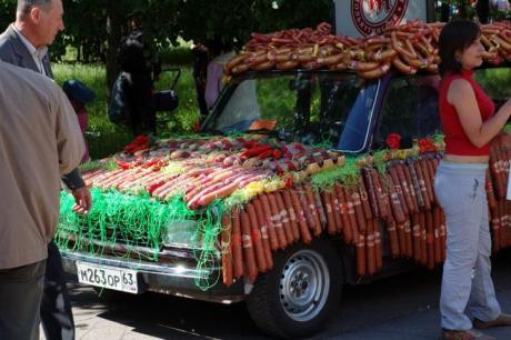 колбасная лавка для туристов :)