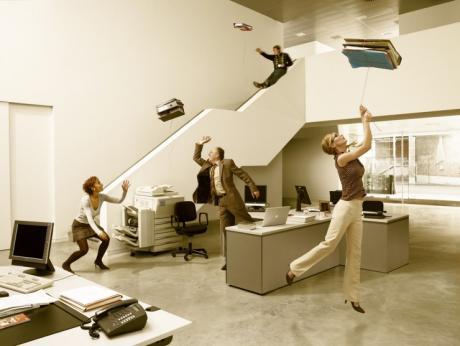 Представьте себе, что всех отпустили в оплачиваемый отпуск одновременно! :)
