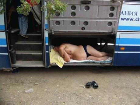 Отдых во время автобусного тура... :)