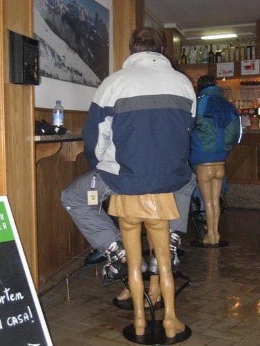 Стульчики в одном из баров :)