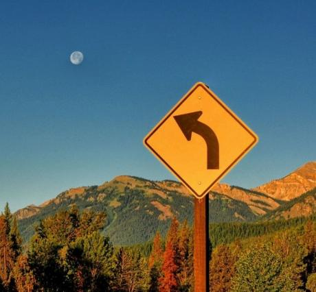 Дорога на луну :).. указатель направления