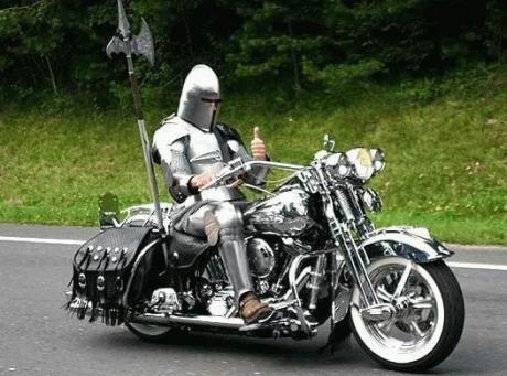 Современный рыцарь :)