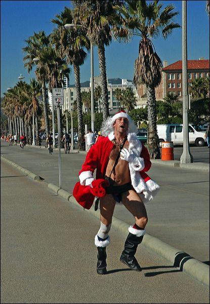 Санта  дошел до Калифорнии :)