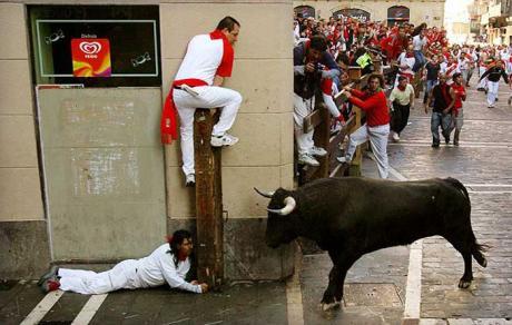 Праздник в Испании не всегда заканчивается всеобщим счастьем :)