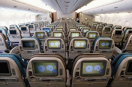 В самолете :) ...