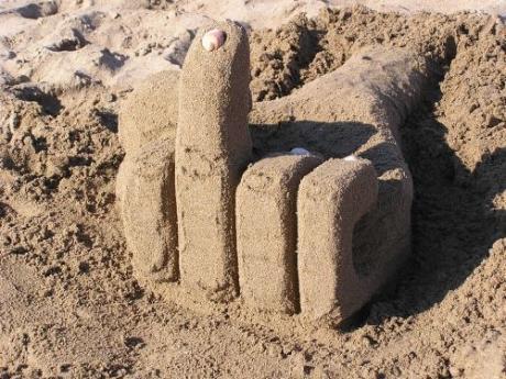 Пляжное творчество :)
