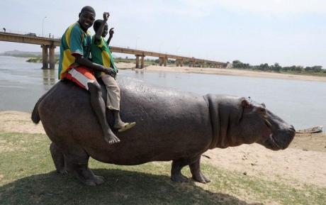 Кто на лошадях катает, а кто и на бегемотах :)