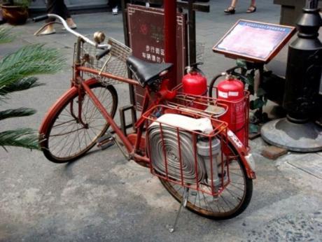Пожарный велосипед - Китай