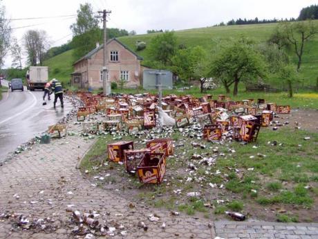 Вот так любят пиво в Чехии..