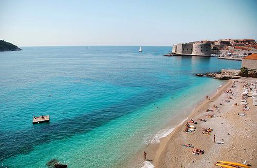 Пляж в Дубровнике, фото