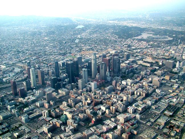 Лос-Анджелес с высоты птичьего полета