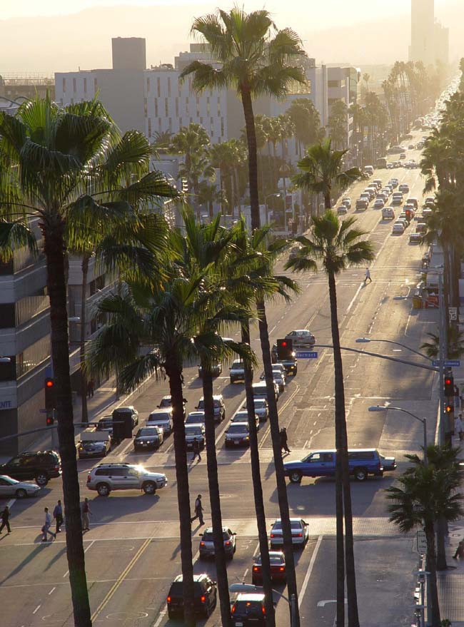 Сансет Бульвар - по дороге в Голливуд