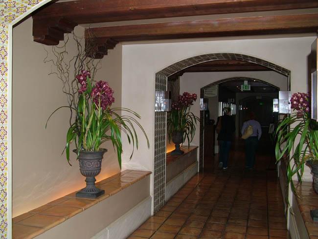 В коридорах Рузвельт Отеля цветут прекрасные орхидеи.
