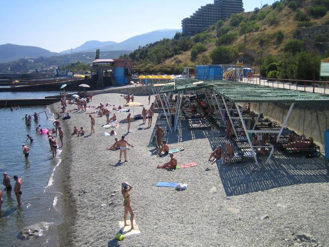 Алушта - санатории - пляж санатория