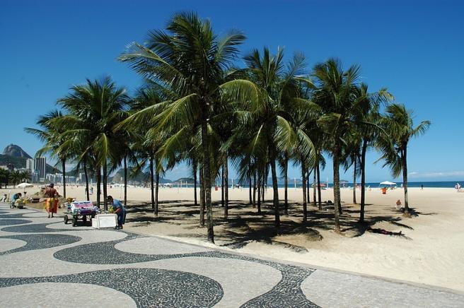 Рио-де-Жанейро - набережная - океан