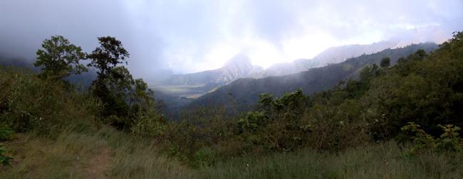 Остров Ява, горы, фото