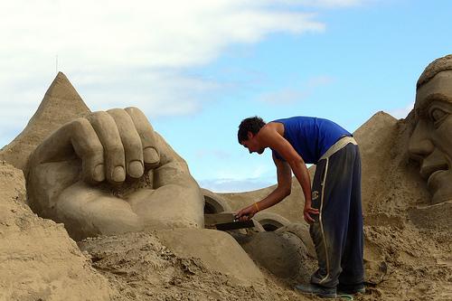 Травемюнде - фигуры из песка