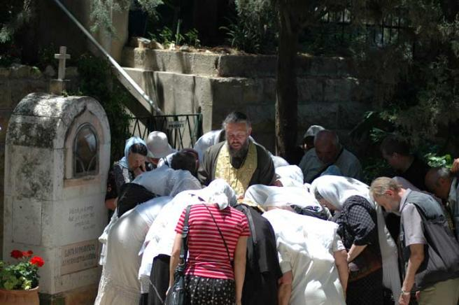 Иерусалим - православный женский монастырь - паломники