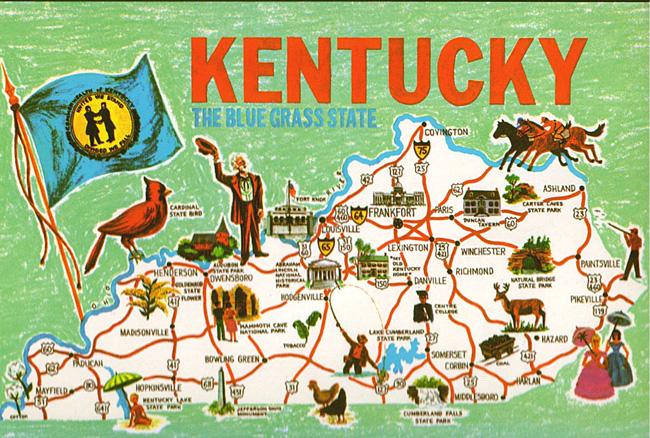 Кентукки - туристическая карта - фото