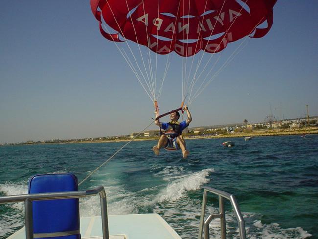 Кипр - парашютинг - фото