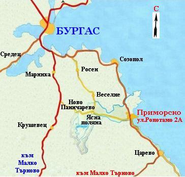 Бургас - туристическая карта курорта