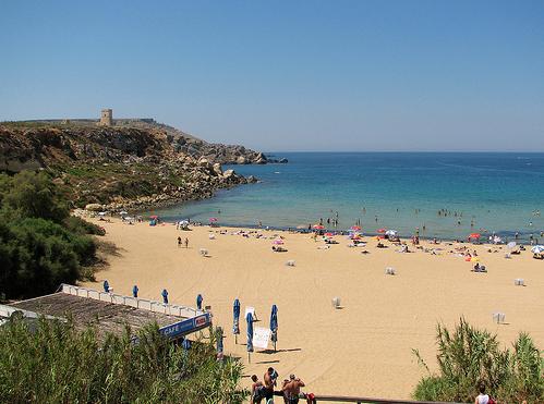 Мальта Золотой пляж - фото