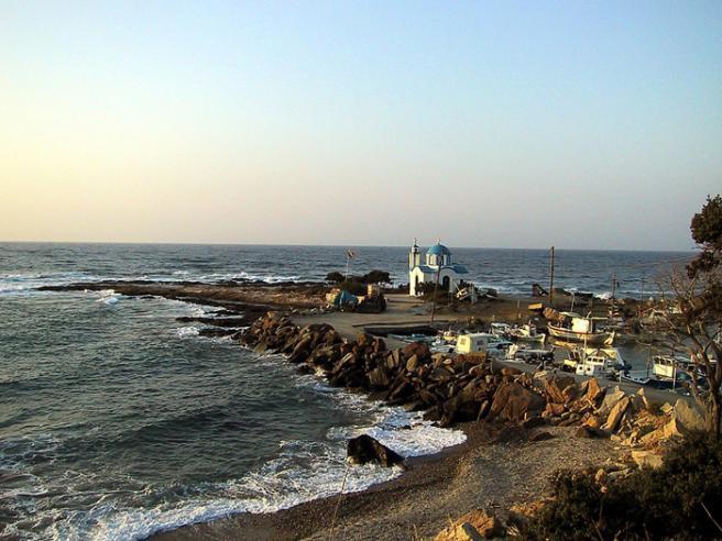 Пляж в Греции фото