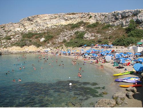 Мальта - пляж Парадайз - фото