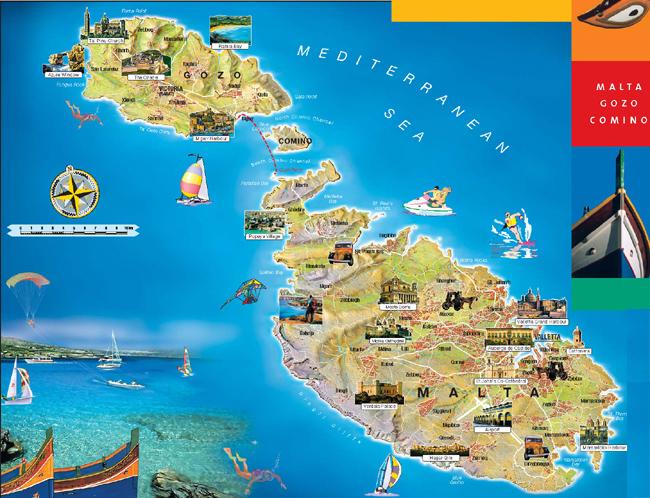 Туристическая карта Мальты / Туристические карты Мальты / Аура ...