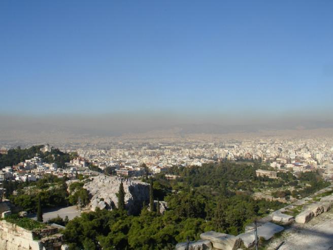 Греция. Панорама с Акрополя. Фото