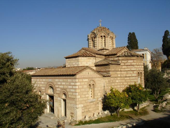 Церковь Святых Апостолов. Греция. Эта византийская церковь тоже находится в пределах Агоры, но она уже относительно новая, примерно 1000 год.