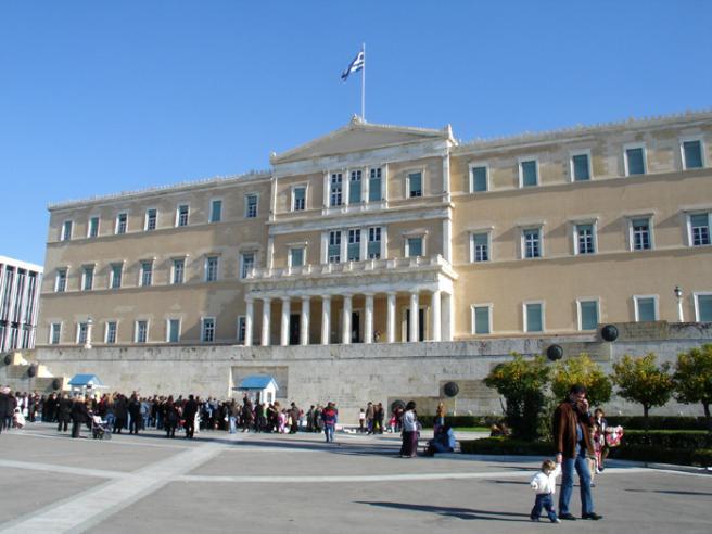 Греция. Парламент. Фото