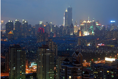 Шанхай - улицы города - фото