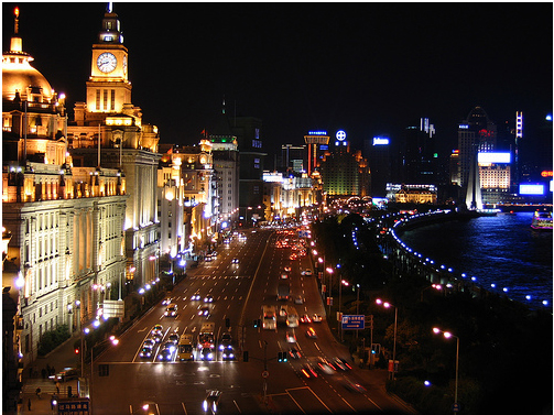Китай - Шанхай - улицы города - фото